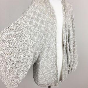 Free People Open Knit Sweater Cardigan Dolman